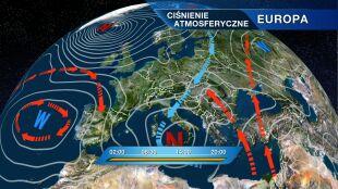 Pogodą rządzi klin wysokiego ciśnienia, ale zatoka niżowa też zaznacza swoją obecność