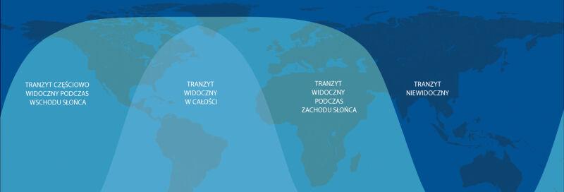 Gdzie będzie widoczny tranzyt Merkurego? (tvnmeteo.pl za  NASA/JPL-Caltech)