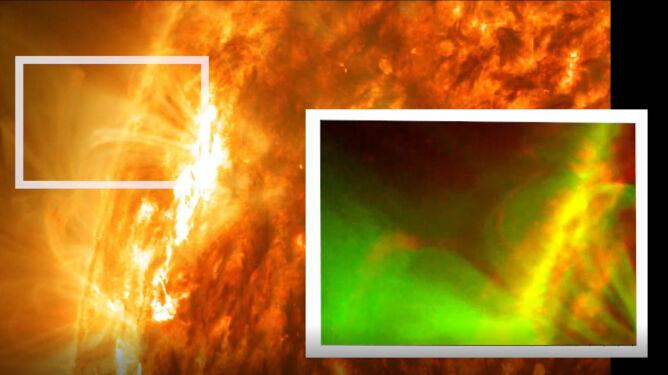 Zaobserwowana wymuszona rekoneksja na Słońcu (NASA/SDO/Abhishek Srivastava/IIT(BHU))