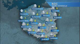 Prognoza pogody na noc 31.05/01.06